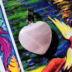 Pendentif coeur de Quartz rose~ Douceur