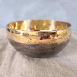 Bol chantant Tibétain Ishana noir et or - 10cm (son en description) - chakra couronne