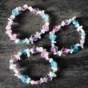 Bracelet Amazonite & Quartz rose - Coquillage