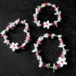 Bracelet printanier de Jade néphrite
