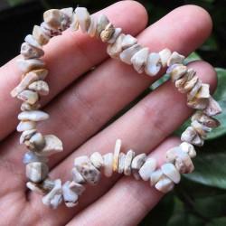 Bracelet Opale noble blanche ~ Créativité