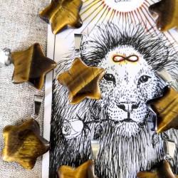 Pendentif étoile d'Oeil de tigre ~ Confiance en soi