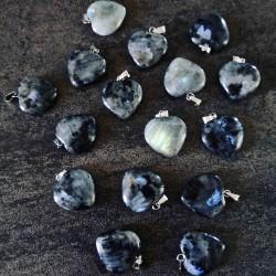 Pendentif Coeur de Labradorite ~ Protection douce