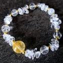 Bracelet Quartz rutile et Cristal de roche ~ Concentration