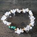 Bracelet de Turquoise du Mexique et cristal de roche