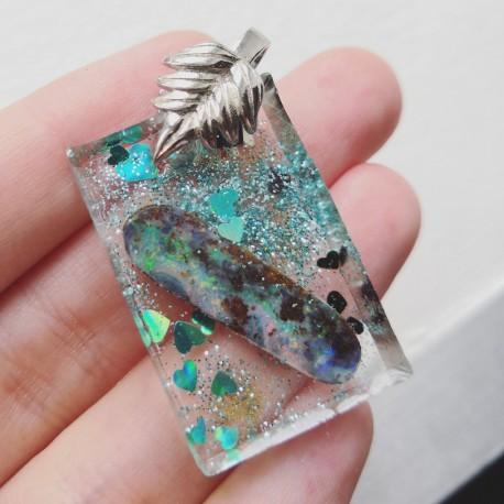 Collier Opale Boulder ~ Créativité (percé par mes soins)