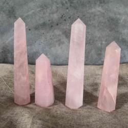 Grande pointe de Quartz rose ~ Douceur